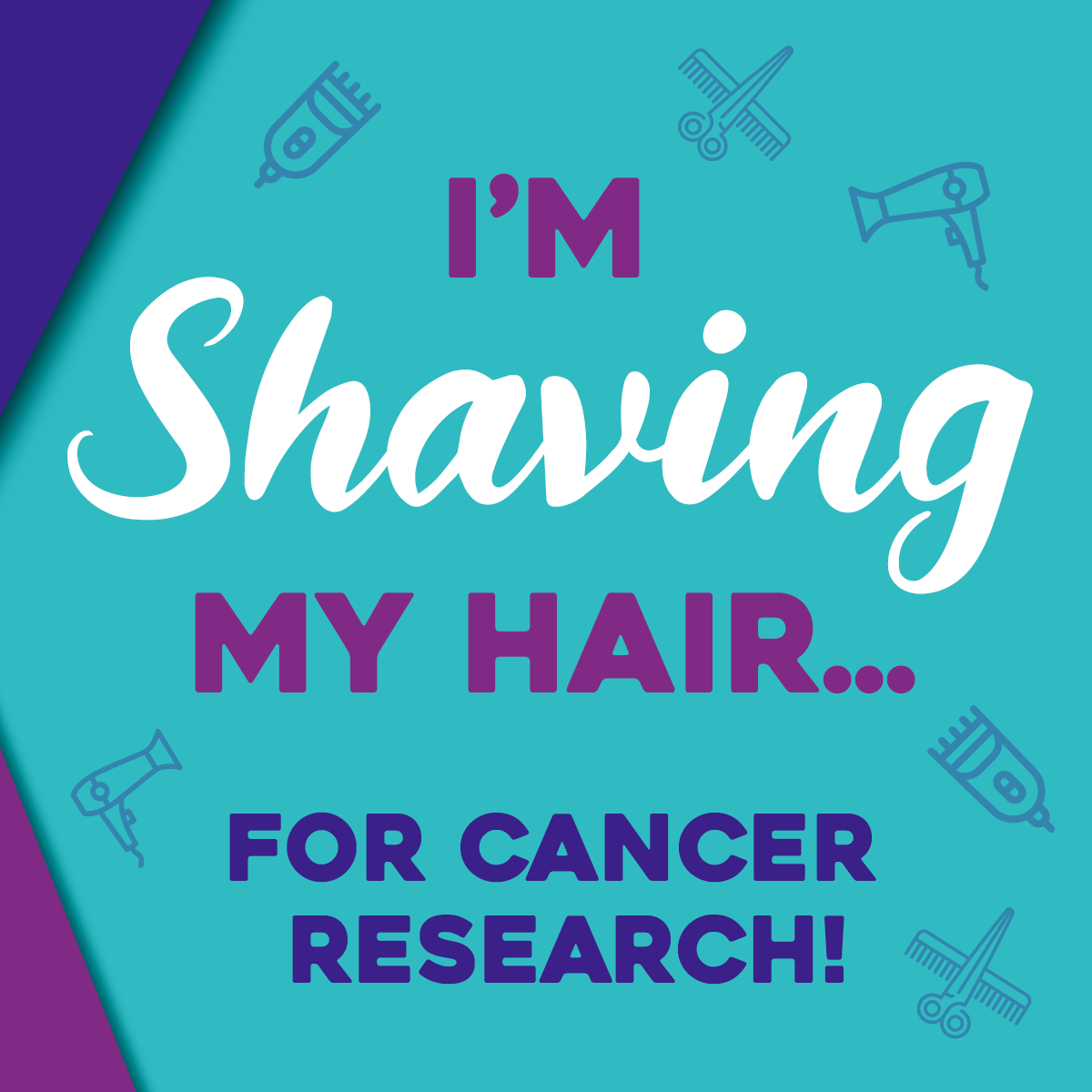 Hair Dare social post- Shaving